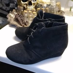 Super cute girl booties with a wedge heel
